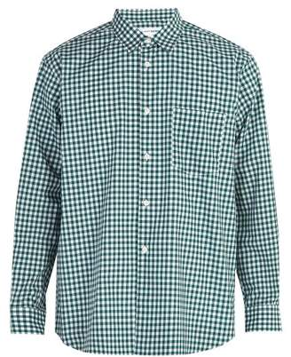 Comme des Garcons Forever Gingham Cotton Shirt - Mens - Green