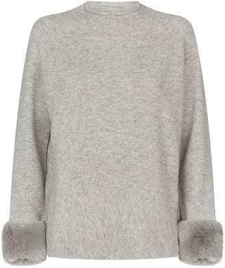 Max & Moi Fur Cuff Sweater