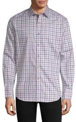 Robert Graham Grouper Plaid Cotton Button-Down Shirt