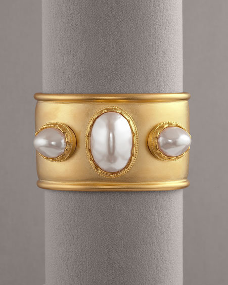Kenneth Jay Lane Pearl Cuff