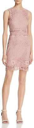AQUA Lace Body-Con Sleeveless Dress - 100% Exclusive $98 thestylecure.com