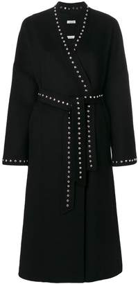 P.A.R.O.S.H. studded belted cardi-coat