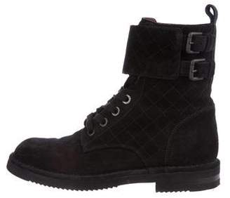 Chanel Quilted Ankle Boots
