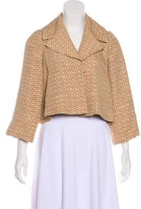 Diane von Furstenberg Knit Pleated Blazer
