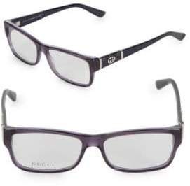 Gucci 54MM Rectangle Optical Glasses