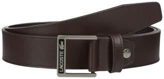 Lacoste Classic Logo Embossed Buckle Belt Men's Belts
