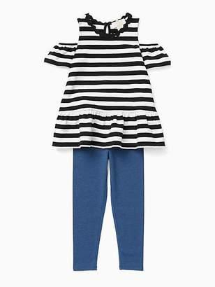 Kate Spade Toddlers stripe cold shoulder legging set