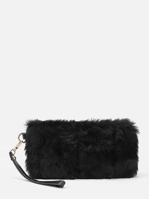 Shein Faux Fur Design Clutch Bag