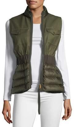 Moncler Beryl Semi-Fit Mixed-Media Vest