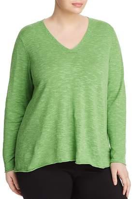Eileen Fisher Plus V-Neck Slub Sweater