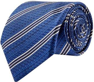 Canali Diagonal Striped Silk Tie