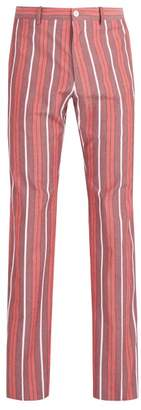 Connolly - High Rise Cotton Trousers - Mens - Red Multi