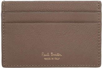 d1e889ee520838 Paul Smith Taupe Multistripe Insert Card Holder