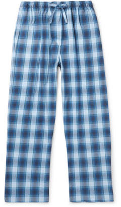Derek Rose Ranga Checked Cotton-Flannel Pyjama Trousers