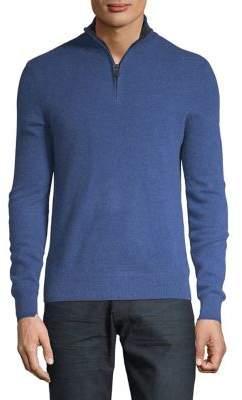 Black & Brown Black Brown Quarter-Zip Cashmere Sweater