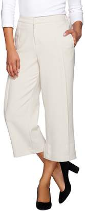 Halston H By H by Stitched Pleat Wide Leg Crop Trousers
