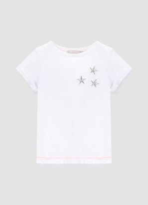 Mint Velvet Ivory Embroidered Star Tee