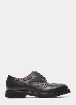 Aiezen Mens Vibram Soled Derby Shoes in Black