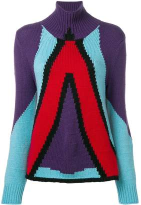 Bottega Veneta cashmere geometric panel jumper