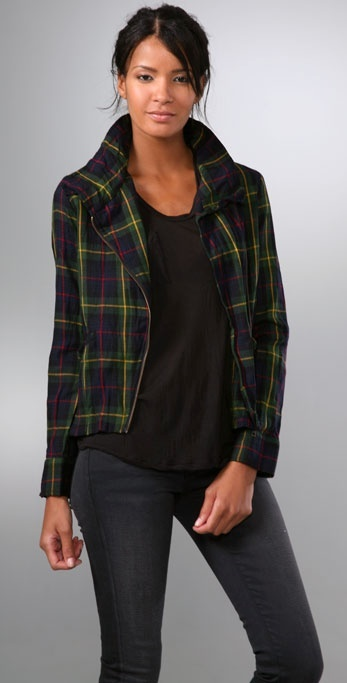 Patterson J. Kincaid Peter Collar Plaid Jacket