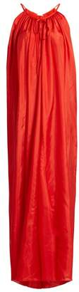 Kalita Mercury Silk Habotai Maxi Dress - Womens - Red