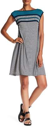 Max Studio Stripe Cap Sleeve Dress