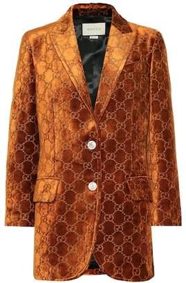 Gucci GG velvet blazer