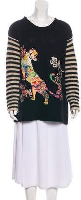 Etro Cashmere Embroidered Long Sleeve Sweater w/ Tags