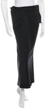 Yohji Yamamoto Silk Blend Midi Skirt $65 thestylecure.com