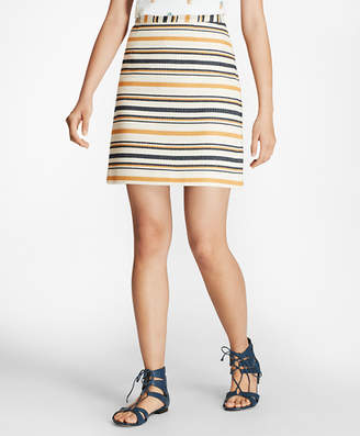 Brooks Brothers Striped A-Line Skirt