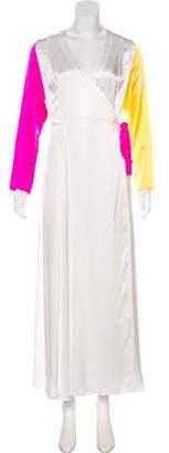 Leone we are Silk Long Sleeve Maxi Dress
