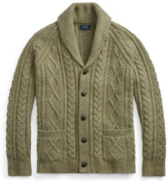 Ralph Lauren Cable Wool-Cashmere Cardigan
