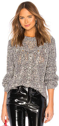BCBGMAXAZRIA Open Stitch Cable Pullover