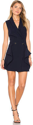 Endless Rose Sleeveless Tuxedo Mini Dress in Navy $104 thestylecure.com