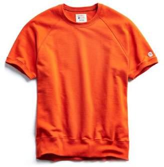 Todd Snyder + Champion Terry Short Sleeve Sweatshirt in Sunset Orange