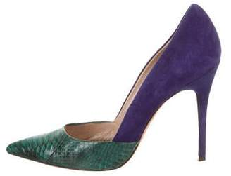 Jean-Michel Cazabat for Sophie Theallet Python Cap-Toe Pumps