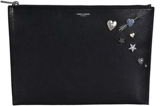 Embellished Zipped Clutch