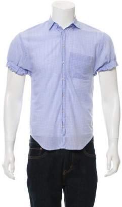 Vince Plaid Short Sleeve Top