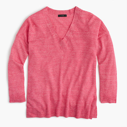 J.Crew Merino wool-linen V-neck sweater