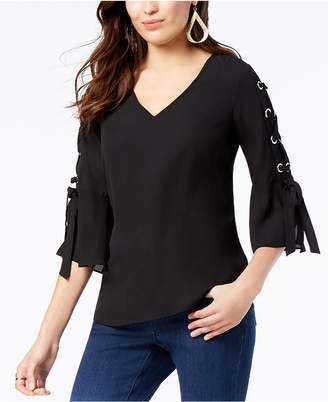 Thalia Sodi Grommet-Sleeve Blouse, Created for Macy's