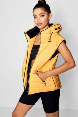 boohoo Faye Quilted Gilet