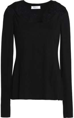 Bailey 44 Twisted Cutout Stretch-Jersey Top