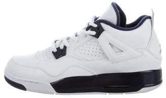 Jordan Nike Air Boys' 4 Retro Bg Leather Sneakers