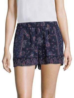 Joie Ciri Floral Printed Silk Shorts