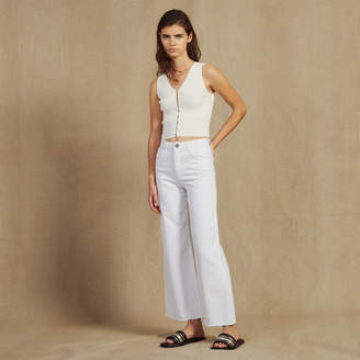 Sandro High-waisted flared jeans