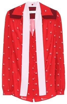 Valentino Floral-printed silk shirt