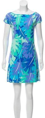 Emilio Pucci Short-Sleeve Mini Dress