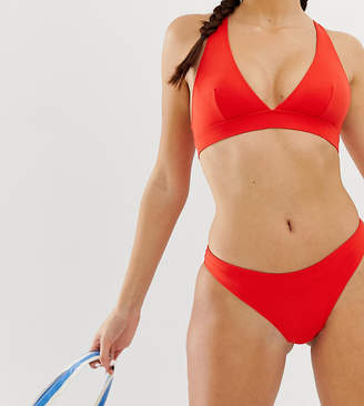 Monki tanga mix & match bikini brief in red