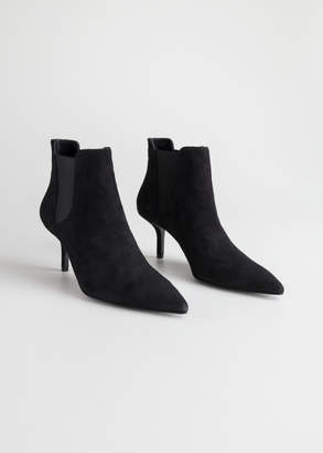 Pointed Stiletto Ankle Boots