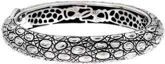 Croco Jai JAI Sterling Texture Hinged Bangle Bracelet 51.1g